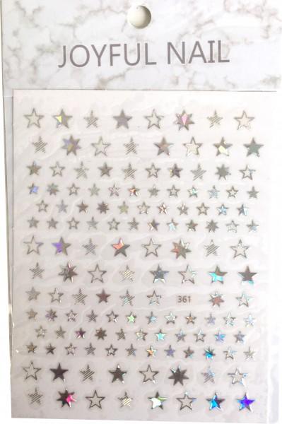 Nailart Sticker-Sterne irisierend
