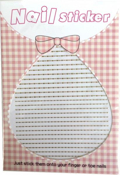 Nailart Sticker-Streifeb mit Punkten