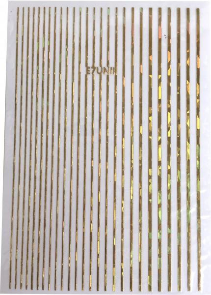 Nailart Sticker-Streifen gold irisierend