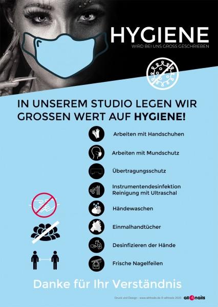 Hygiene-Hinweis A2 Folie für Schaufenster