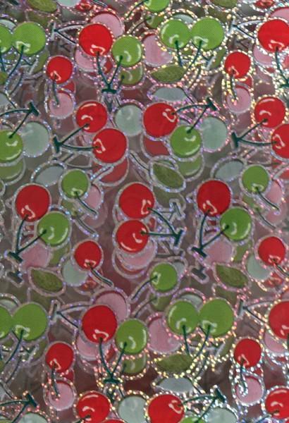 Transferfolie- Kirschen rot grün